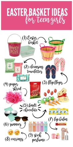 56 non candy easter basket ideas for kids teen gifts basket easter basket ideas for teen girls negle Choice Image
