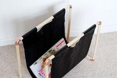 DIY : fabriquer un porte-magazine en bois et cuivre