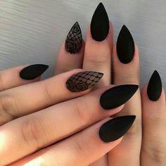 Elegant Nail Designs, Black Nail Designs, Elegant Nails, Nail Art Designs, Nails Design, Stiletto Nail Designs, Cute Acrylic Nails, Fun Nails, Pastel Nails