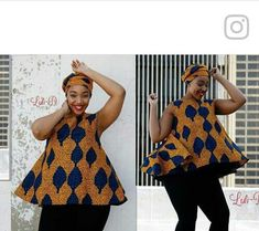 African Fashion Ankara, Latest African Fashion Dresses, African Dresses For Women, African Print Dresses, African Print Fashion, African Attire, African Wear, African Blouses, African Tops