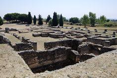 Roman ruins in Aleria, Corsica, France