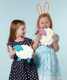 Bah, bah, white sheep, with fleece made of snow. This cute project comes together from a few household staples.