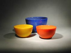 """""""Colora"""" Bowls designed by Sven Palmqvist, produced by Orrefors"""