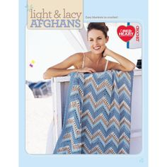 Choose from eight patterns for a light and lacy afghan perfect for any time of year! Stitch key and a note section included. http://www.maggiescrochet.com/products/light-lacy-afghans