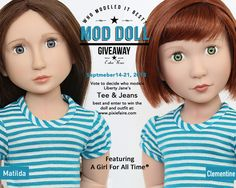 Tell A Friend - Mod Doll Monday at Pixie Faire: enter to win a Girl For All Time doll and Liberty Jane Outfit this week.