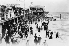 Asbury Park NJ Beach By Boardwalk 1920s 4x6 Reprint Of Old Photo