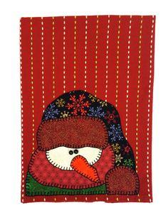 Toalla de té de Navidad muñeco de nieve Navidad por RkyMtnCrafts
