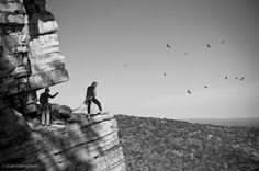 Belaying to the sounds of turkey vultures on the Grand Traverse ledge, Gunks.