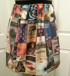 Classic book covers skirt