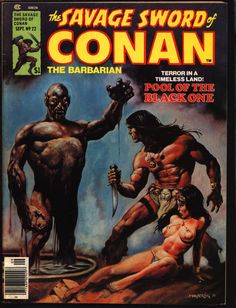 Savage Sword of CONAN 22 B Robert E. Howard Roy Thomas Solomon Kane John Buscema Sonny Trinidad Barbarian Sword & Sorcery Fantasy