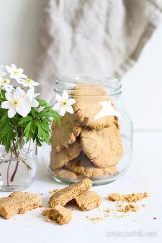Vegan + Gluten Free Peanut Butter Ginger Cookies   Chocochili.net