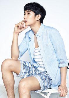 Kim Soo Hyun in the Ziozia lookbook