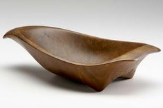 WHARTON ESHERICK Sculptural carved walnut bowl, 19