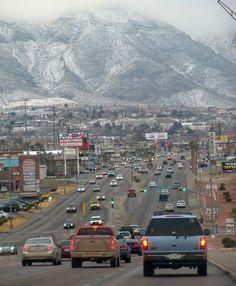 Snow in El Paso, Texas | Mesa Street