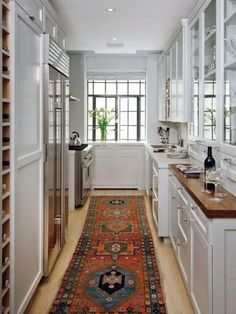 Our 55 Favorite White Kitchens Galley Kitchen Remodele