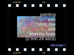 Fabric Dyeing 101 Videos - Empress of Dirt Sky Painting, Fabric Painting, Paint Fabric, Fabric Yarn, How To Dye Fabric, Dyeing Fabric, Sewing Accessories, Amazon Art, Elementary Art