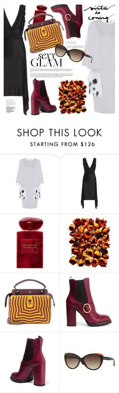 """Winter is coming"" by smartbuyglasses-uk ❤ liked on Polyvore featuring Fendi, Givenchy, Giorgio Armani, Prada and DKNY"
