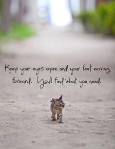 Keep moving and you'