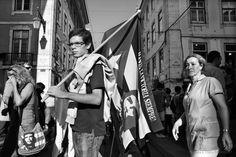 O povo toma conta das ruas em protesto contra a crise econômica e as decisões do governo.  Lisboa - Portugal  Data: 29.09.2012