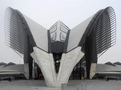 gare de l'aéroport de Saint-Exupéry, Lyon. Santiago Calatrava
