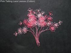 Tatting Flower Leaf Leaves Border Premade Page Album Card Trim Handmade Pink 12