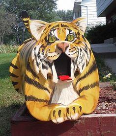 Wildlife Tiger Mailbox by MyCountryHaven on Etsy, $110.00