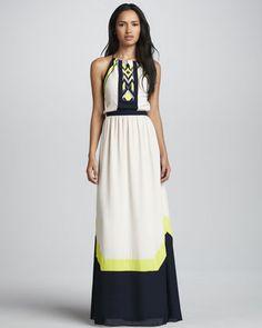 Amanda Tribal Colorblock Maxi Dress by Greylin at Neiman Marcus.