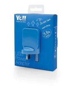UA5343B in Blue @ Ye!! #UA5343 #USB #adapter #charger #blue