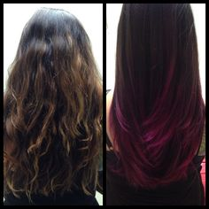 My dark pink ombre hair!