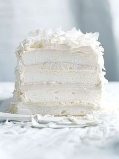 Bake this Coconut Layer Meringue Cake recipe for a lighter-than-air dessert perfect for a bridal shower or birthday party. Food Cakes, Cupcake Cakes, Sweets Cake, Nougat Torte, Keks Dessert, Baking Recipes, Dessert Recipes, Italian Cookie Recipes, Dessert Food
