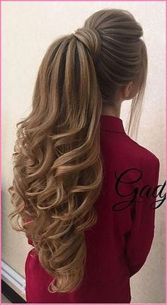 Prom Ponytail Hairstyles, Long Hair Ponytail, Long Face Hairstyles, Ponytail Styles, Weave Hairstyles, Short Hair Styles, Ponytail Ideas, Hairstyle Ideas, Low Ponytails