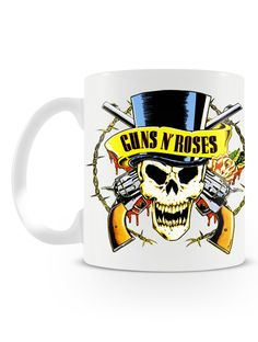 Caneca Guns N' Roses   Uma loja de caneca  #rock #canecas #heavymetal #guns #rocknroll #canecas #musica #bandas