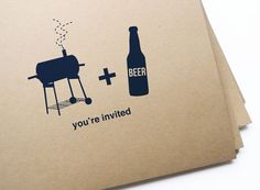 The Pre- Wedding Barbecue invites!    12 BBQ & Beer Invitations free personalization by girlingearstudio, $13.50