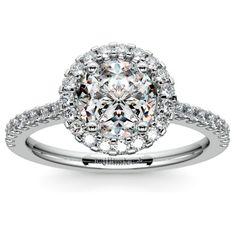 Halo Diamond Preset Engagement Ring in White Gold (1 1/2 ctw) www.brilliance.com
