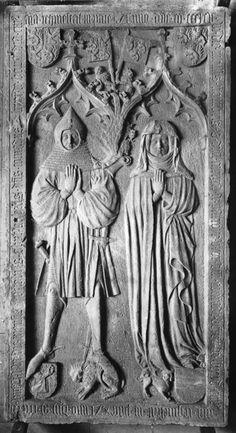 Grabplatte des Ehepaars Konrad Beyer von Boppard und Maria von Parroye, Boppard
