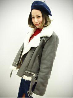 Faux shearing jacket / Dazzlin(ダズリン) フェイクムートンコート shopstyle.co.jp