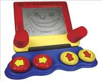 The Etch A Sketch provides four built in switches to draw on this toy. ID#3775. https://enablingdevices.com/catalog/toys_for_disabled_children/arts-crafts/etch-a-sketch