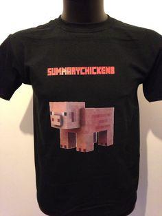 Black tshirt Minecraft, Mens Tops, T Shirt, Black, Women, Fashion, Moda, Tee, Black People