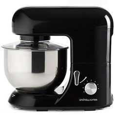 Andrew James Electric 1300 Watt Food Stand Mixer In Stunning Black, Includes 2 Year Warranty, Splash Guard, 5.2 Litre Bowl And Spatula, http://www.amazon.co.uk/dp/B006VSAPA0/ref=cm_sw_r_pi_awdl_mJIRwb0CDQZCA