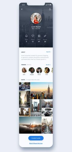20 Mobile App Profile Screen UI Design