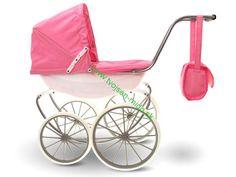DOM A ZÁHRADA | Kočík Retro pre bábiky | elektrické autíčka,štvorkolky, dom a záhrada, trampolíny, náradie,