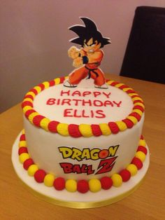Boys dragon ball Z cake
