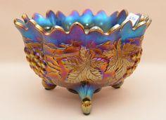 Northwood carnival glass orange bowl, signed, x 10 : Lot 630