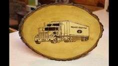 """Semi Truck"" Pyrography -Wood Burning by Alice Holcomb"