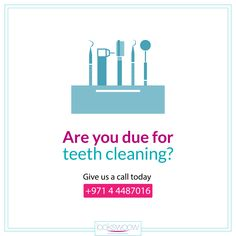 Are you due for a cleaning? If it's been more than six months since you've sat in our chair, you probably are! Give us a call today and schedule an appointment -- you'll be glad you did. We are open on weekends!  #Lookswoow #dubaismile #smiledubai #bestdentalclinicdubai #teethwhitening #dentalplan