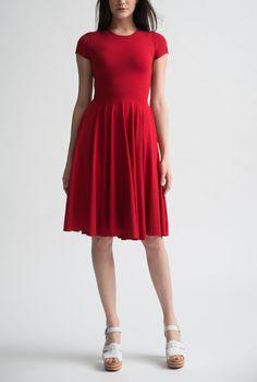 Nadia Tarr Red T-Shirt Circle Dress