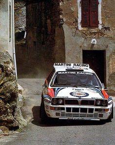 Lancia Delta Integrale rally car: