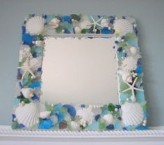 use shells and sea glass you find on the beach to decorate a frame.  you can even use craft pearls to add a special touch