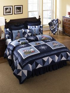 Nautical Flag Quilt Patterns Donna Sharp Lighthouse Tour Nautical Patchwork Twin Quilt Nwt Throw In Home Garden Bedding Quilts Bedspreads Coverlets Nautical Quilts Patterns Nautical Quilt Patterns Bab Nautical Quilt, Nautical Bedding, Beach Bedding, Coastal Bedding, Navy Bedding, Luxury Bedding, Donna Sharp Quilts, Deco Marine, Twin Quilt