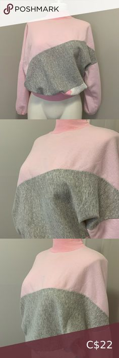 """Vintage Pink Mockneck Sweater Gorgeous vintage sweater by brand """"Les Modes JMS Fashion Intl"""" Ski sweater style Mockneck with cinched wrists and hem Pastel pink and grey with a bit of white  in an asymmetrical pattern  True to colour of pictures (colour in closeup of tag is distorted) Good vintage condition 7/10- small rip on right shoulder (easily fixed) and some discolouration on neckline (only noticeable upon close inspection) *please see last two pictures  50% cotton, 50% polyester  Made… Pastel Pink, Pink Grey, Vintage Pink, Vintage Ladies, Ski Sweater, Vintage Sweaters, Sweater Fashion, Mock Neck, Off Shoulder Blouse"""